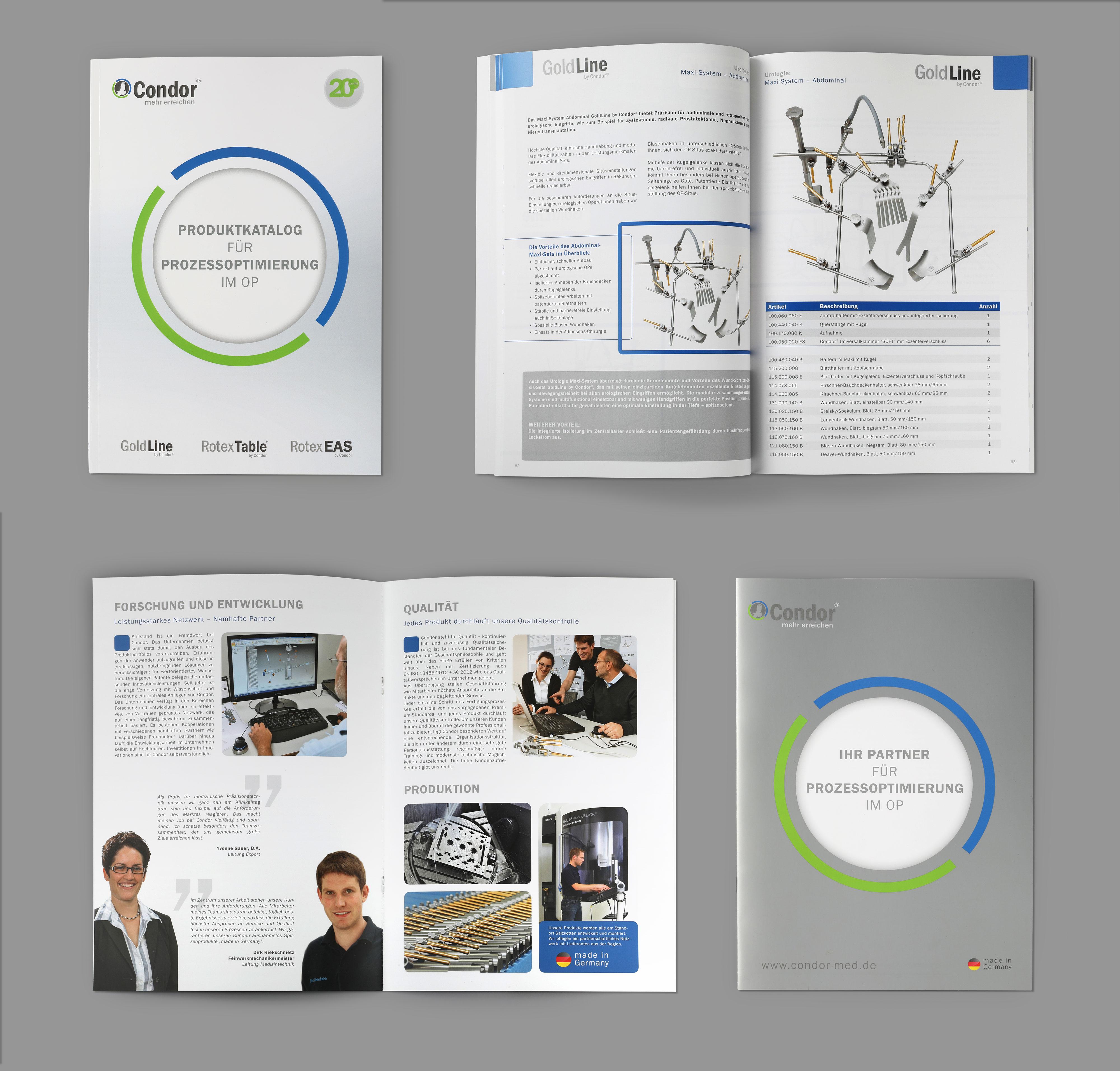 Hüppmeier Marketing und Design GmbH - Referenz - Condor Katalog - Broschüre