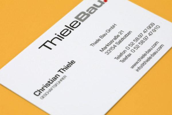 Hüppmeier Marketing und Design GmbH - Referenzen - ThieleBau Visitenkarte Vorschau