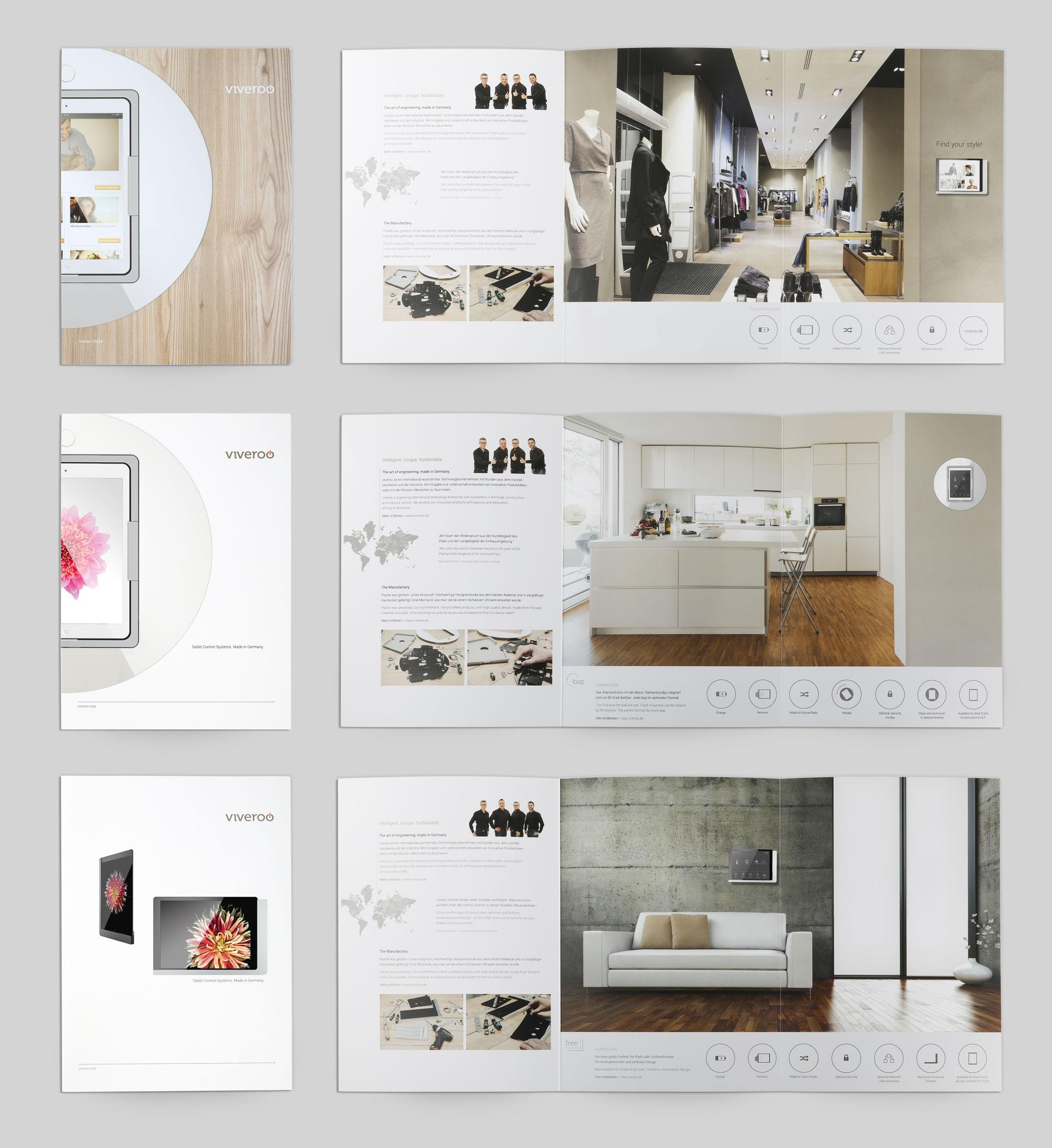 Viveroo GmbH • Broschüren Design • Hüppmeier Marketing und Design