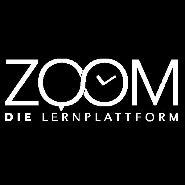 Hüppmeier Marketing und Design GmbH - Leistungen - ZOOM - Die Lernplattform - Logo weiss
