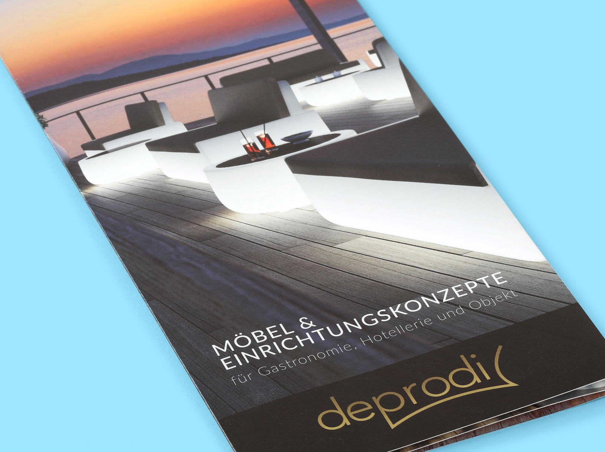 Hüppmeier Marketing und Design GmbH - Referenzen - deprodi Flyer Titel nah