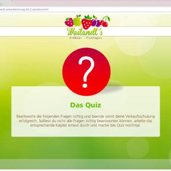 Hüppmeier Marketing und Design GmbH - Referenz - E-Learning - iPad - Weilandt´s Erdbeerplantagen Quiz 01