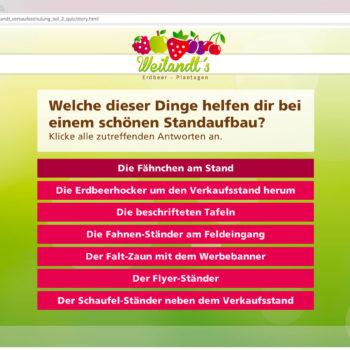 Hüppmeier Marketing und Design GmbH - Referenz - E-Learning - iPad - Weilandt´s Erdbeerplantagen Quiz 02