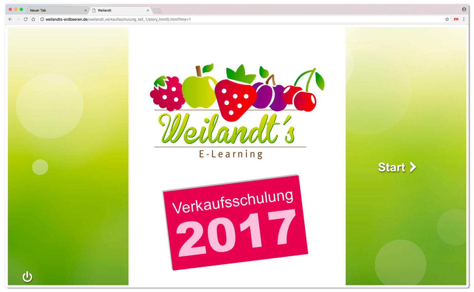 Hüppmeier Marketing und Design GmbH - Referenz - E-Learning - iPad - Weilandt´s Erdbeerplantagen Schulung Cover