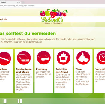 Hüppmeier Marketing und Design GmbH - Referenz - E-Learning - iPad - Weilandt´s Erdbeerplantagen 11