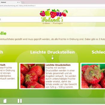 Hüppmeier Marketing und Design GmbH - Referenz - E-Learning - iPad - Weilandt´s Erdbeerplantagen 14