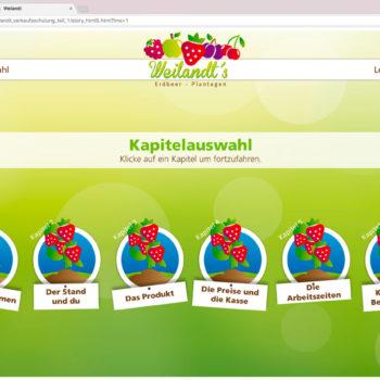 Hüppmeier Marketing und Design GmbH - Referenz - E-Learning - iPad - Weilandt´s Erdbeerplantagen 22
