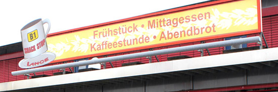 Hüppmeier Marketing und Design GmbH - Referenzen - Logo Redesign - Snackstop Bäckerei Lange aussen alt